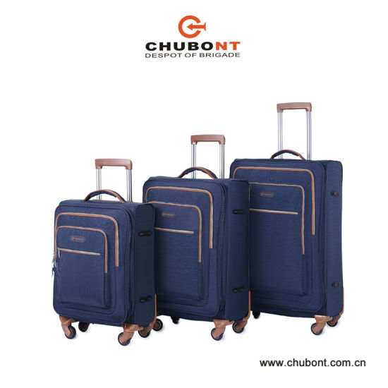 Chubont Durable Washer   Wrinkle Fabric Double Zip Luggage