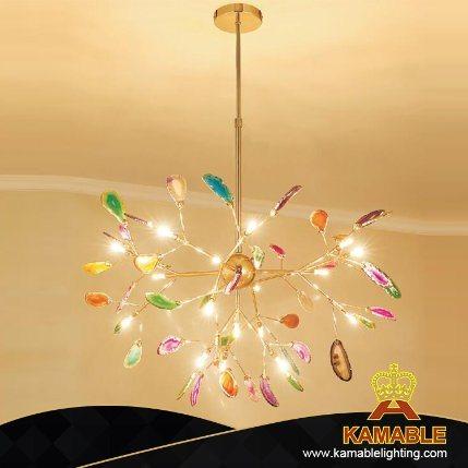 New Design Luxurious Brass Agate Pendant Lights (KAG3125-D780)