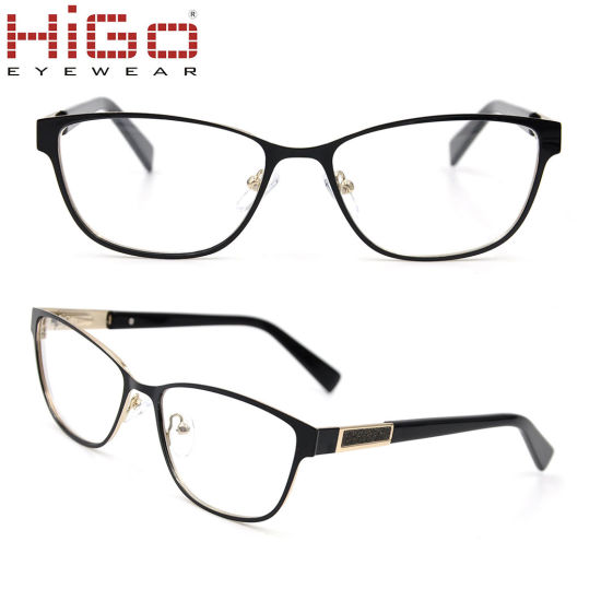 French Style Stock Eyeglasses Frame Stainless Material Manufacturing Optical Glasses