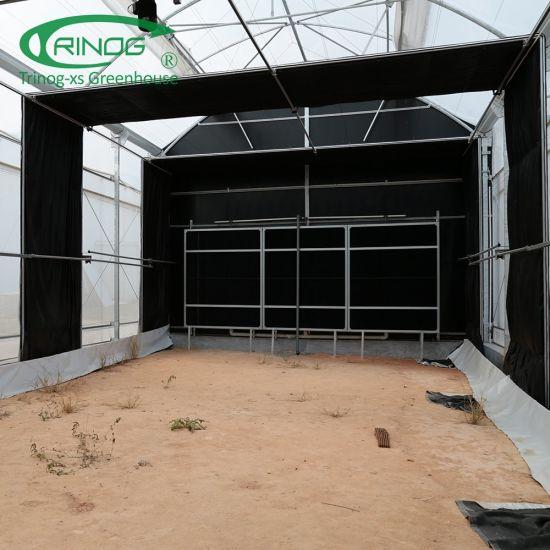 Full set light deprivation green house screen system for medical hemp planting