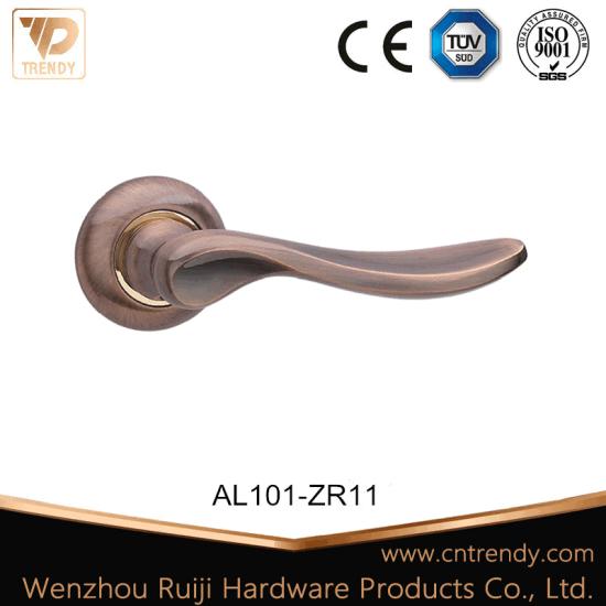 Aluminum Door Handle Lever Lock with Round Knob (Z6101-ZR11-CL)