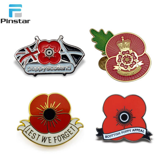 Factory Sale Remembrance Custom Poppy Remembrance 2018 Badge