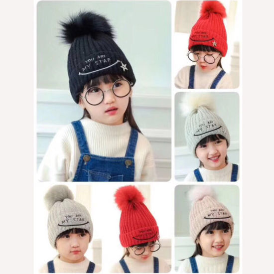 Baby Winter Warm Knit Hat Infant Toddler Kid Crochet Hairball Beanie Cap 0077a8f286d