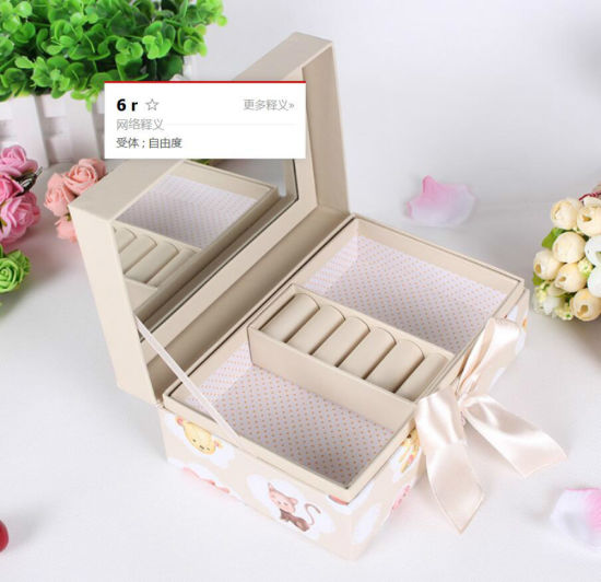 Rectangle Clamshell Cosmetic Packaging Gift Box with Checks for Category