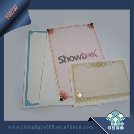 Security Passport with Watermark and UV Paper Printing in China pictures & photos