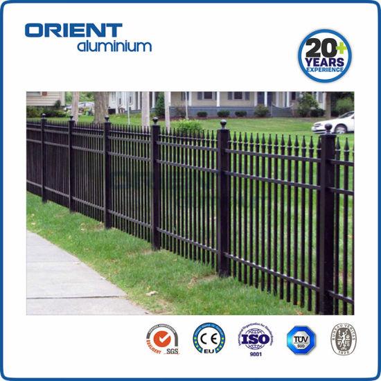 Black Powder Coated Square Aluminum Metal Fence Post