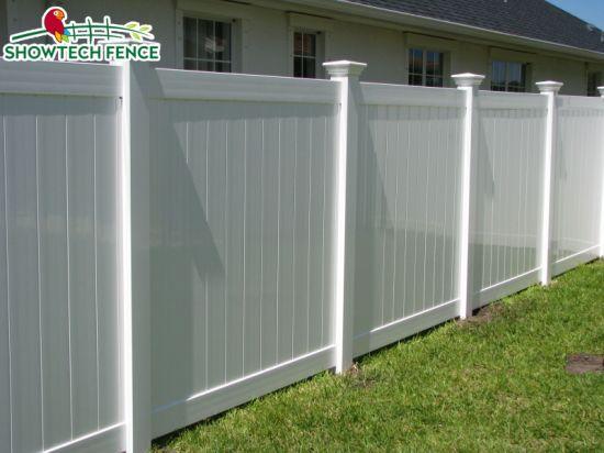 China Classic Design 6h8w Pvc Privacy Vinyl Fence Panels China