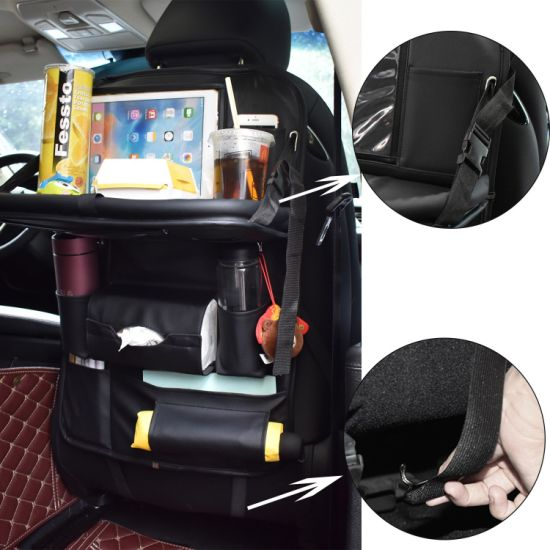 Car Back Seat Organizer With Table Tray