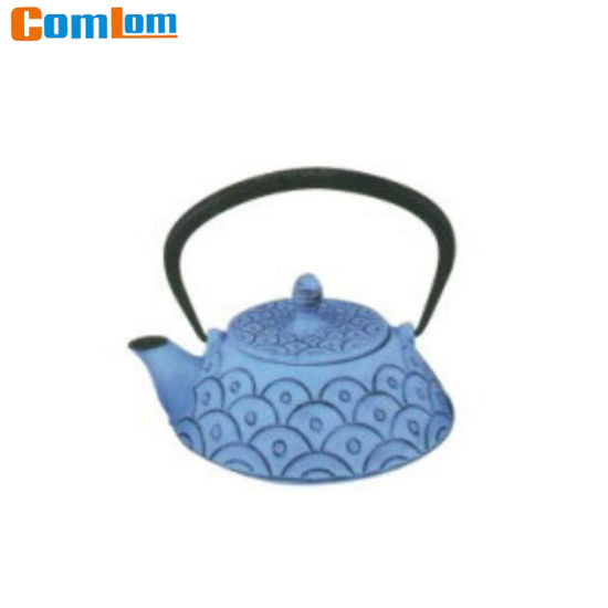 CL1D-CLW2090 Comlom Cast Iron Teapot With Blue Coating