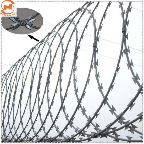 Security Fence Concertina Razor Flat Wrap Wire Bto-22