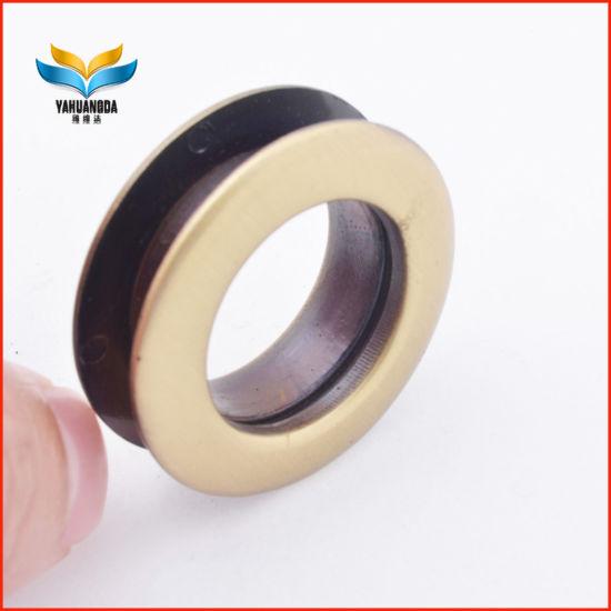 Simple Fashion Round Leather Metal Button Eyelet