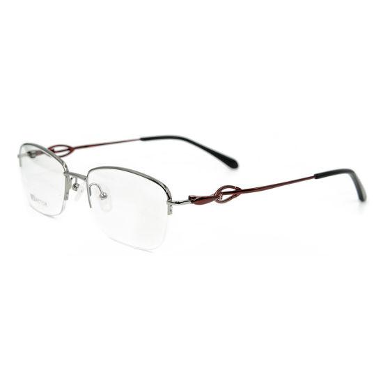 7195423c4ce0 Top Quality China Wholesale Half Frame Metal Lady Gold Eyeglasses ...