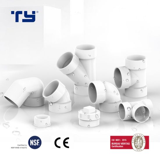 (PVC /CPVC/ PPR) Plastic Drainage Pipe Tube Fitting with ASTM D2665