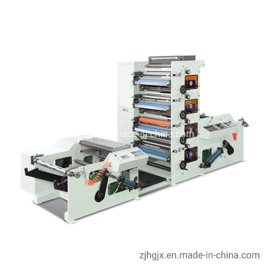 5 Color Water-Based Ink Roll to Roll PE Coated Paper Cup/Bag /Box/Bowl Flexo Printing Machine with IR Dryer