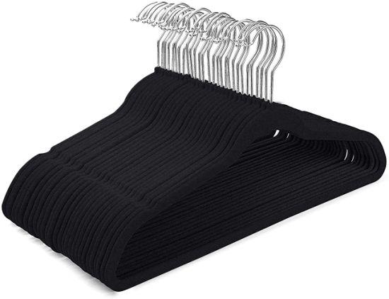 Velvet Hangers Non Slip Felt Hangers Space Saving Clothes Hanger Velvet Hanger Heavy Duty Adult Hanger for Coat, Suit