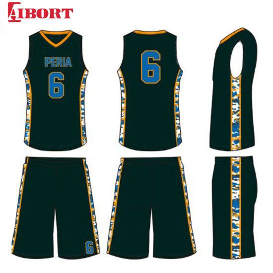 Aibort 2020 Sports Wear Training Suit Breathable Basketball Jersey Set Uniform Customized Basketball Jersey (J-BSK013 (4))