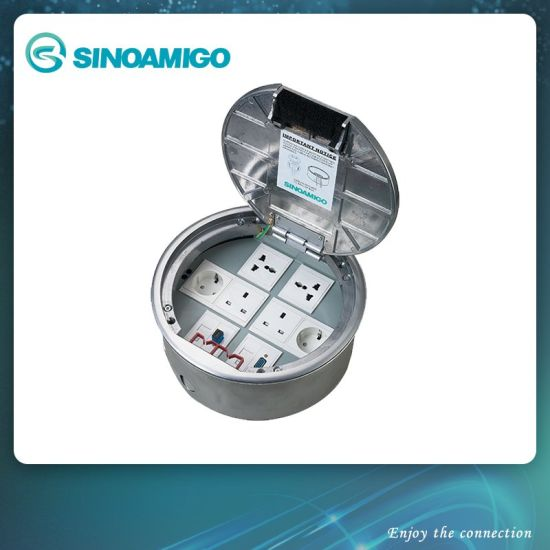 Round Big Capacity Floor Socket Outlet Box