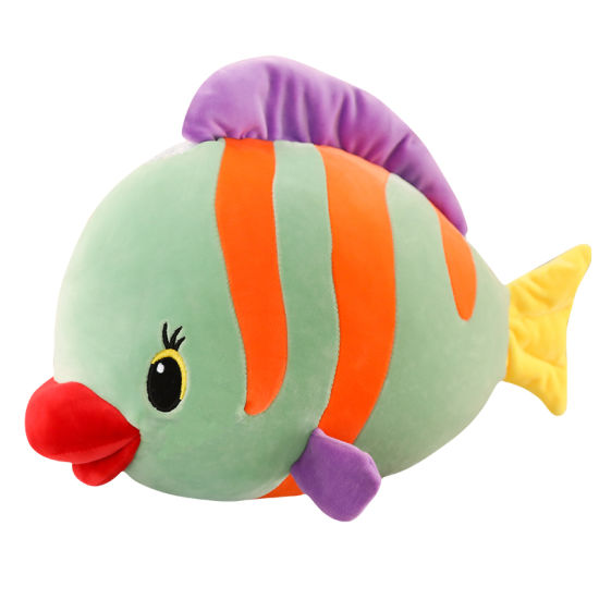 Manufacturers Wholesale Cute Mollusk Tropical Fish Pillow Girls Dolls Children Plush Toys for Birthday Gift