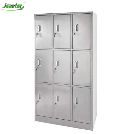 9 Personal Stainless Steellocker for Cleanroom Hospital