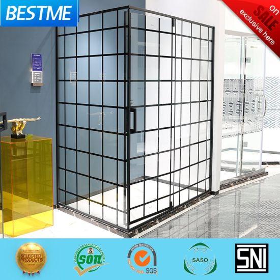 Modern Black Color Bathroom Furniture Glass Shower Room Bl-B0125-C