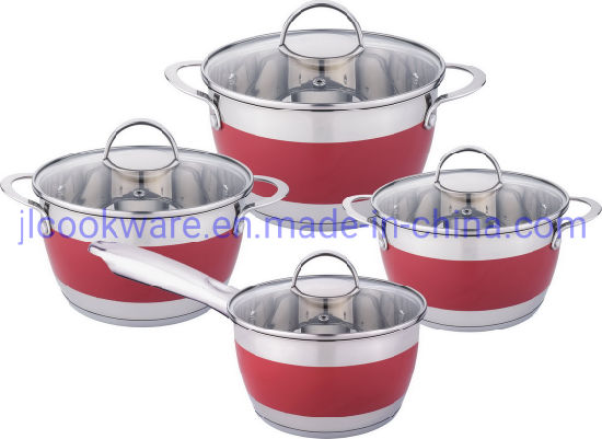 8PCS Stainless Steel Induction Cookware Sets Cooking Pot