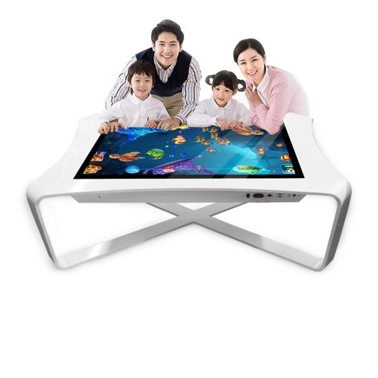 Factory Directly Sell 43'' Tempered Glass LCD Touch Screen Interactive Coffee Tables Game Table for Education/Advertising