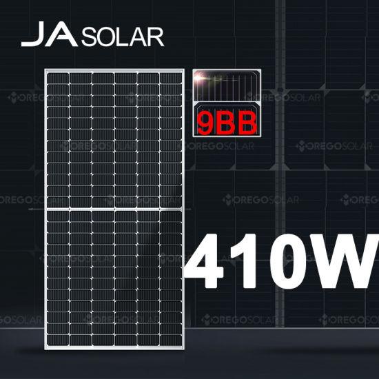 Ja Solar PV Solar Panel Price Half Cell 9bb Solar Panel 405W 410W 415W Home Solar Panel