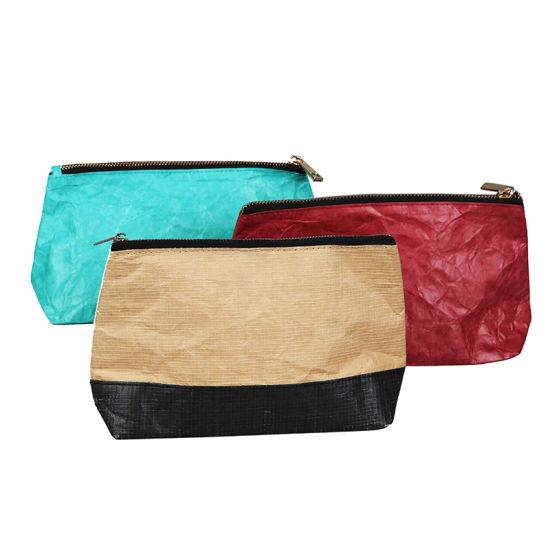 Reusable Waterproof Tyvek Paper Cosmetic Bag for Ladies