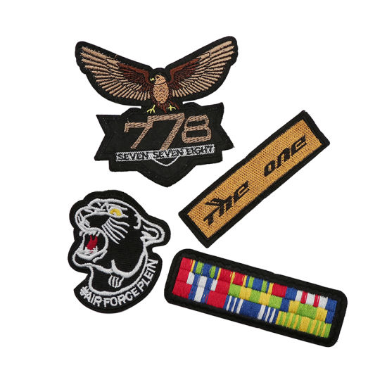 3D Garment Accessories Embroidery Patches, Epaulet
