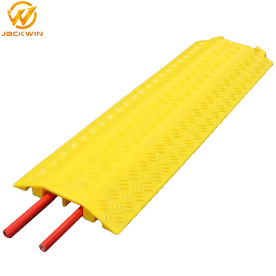 PVC Plastic 2 Channels / 2 Ways Floor Cable Cover Cable Protector Cable Ramp