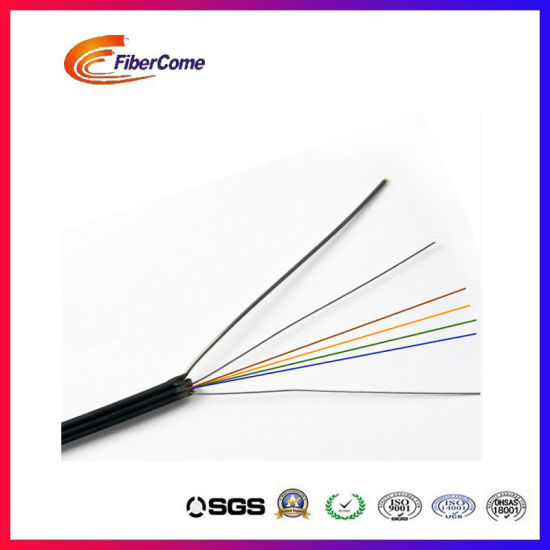 China 4 Core G657A1 Fiber LSZH Steel Outdoor FTTH Drop Wire Cable ...