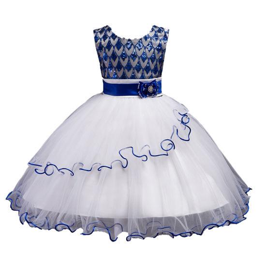 Girls Show Dress Skirt Party Sequins Princess Evening Gown