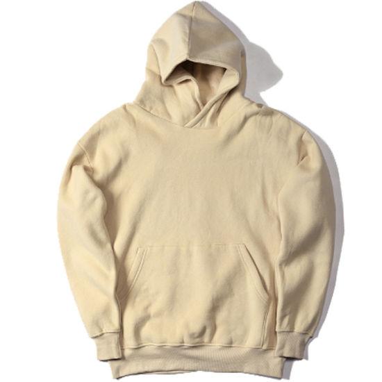 Custom Casual Streetwear Plain Men Pullover Sweater Hoodies Coat