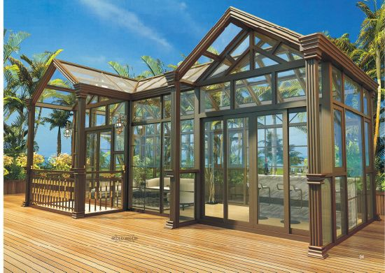 Customizable Aluminium Glass Winter House Sun Porch Sun House Sun Room for Garden From BV ISO Certificate Factory