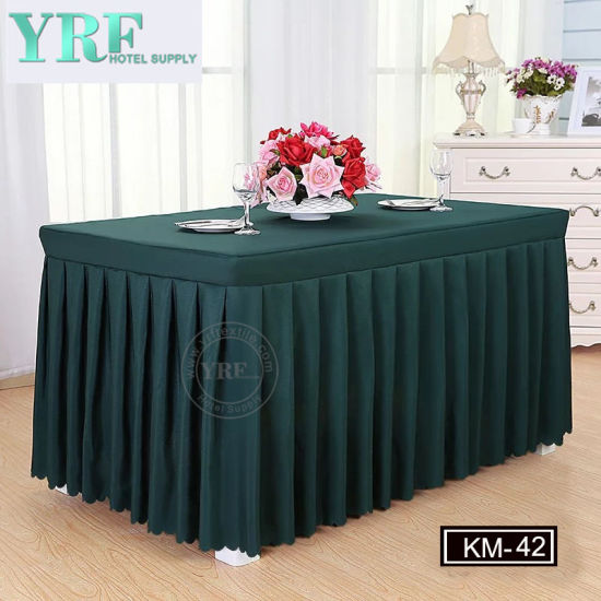 Yrf 8FT Round Green Table Skirt pictures & photos