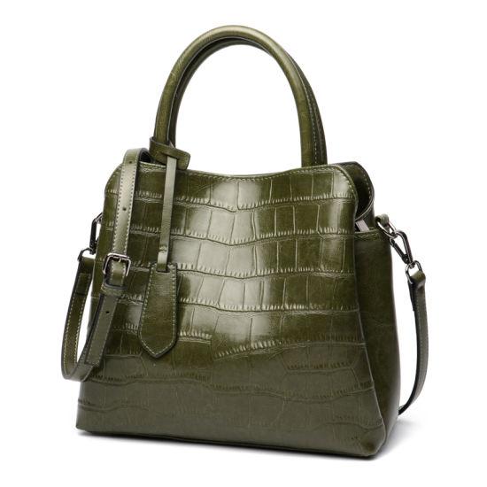 Amazon Ebay Wish Crocodile Grain Leather Women Shoulder Hand Bag