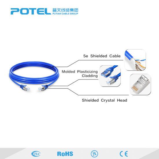 1000FT CAT5E Solid Bulk UTP 4P LAN Cable Pull Box CCA Blue