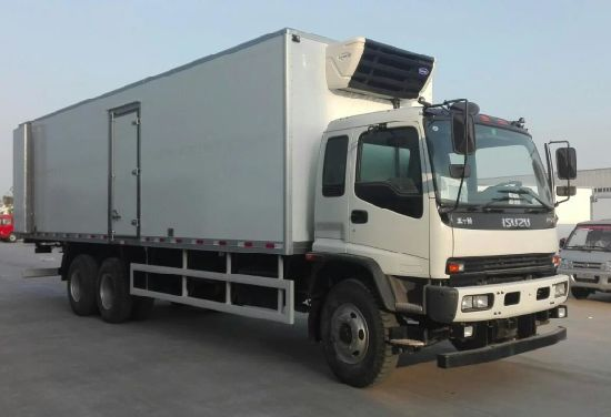 Isuzu 6X4 Fvz 280HP Euro 4 25 Tons Refrigerated Cold Room Van Truck for Sale pictures & photos