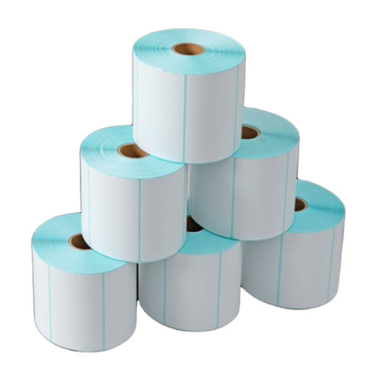 Manufacturer Adhesive Thermal Blank Sticker Label Paper Roll for Barcode Printer