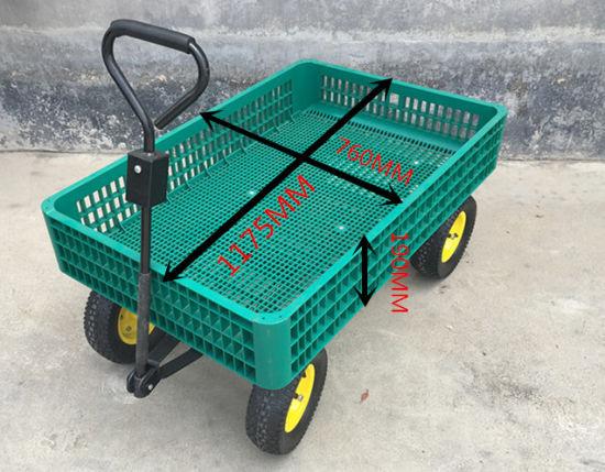 Plastic Garden Wagon Yard Buggy Trailer Lawn Utility