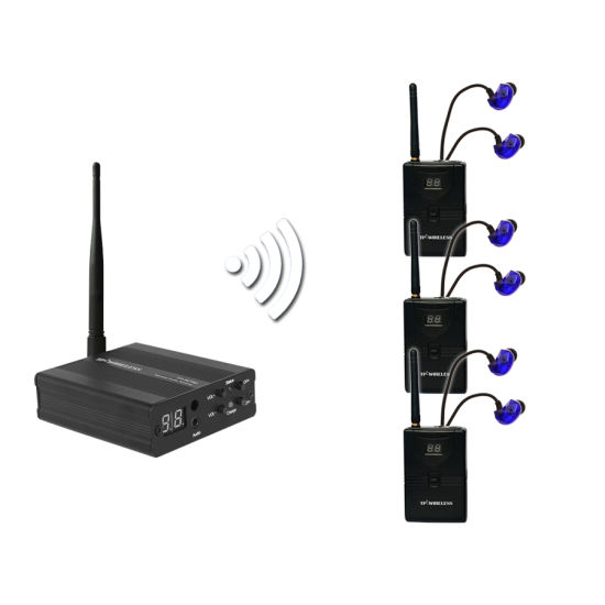 China 24GHz RF Wireless Transmitter Receiver System With Earphone