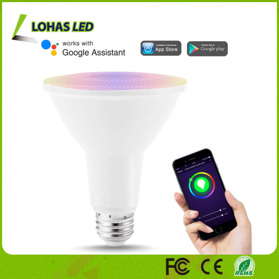 PAR30 RGB Smart Light Bulb Controlled by Tuya Smart APP