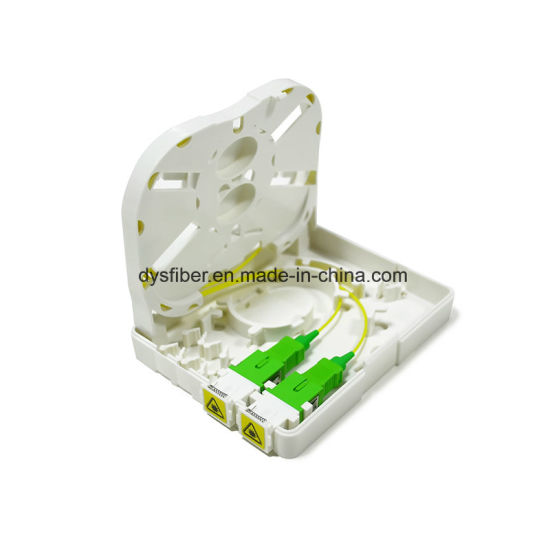 Fiber Optic Wall Socket Vodafone 2 Port FTTH Distribution Terminal Box