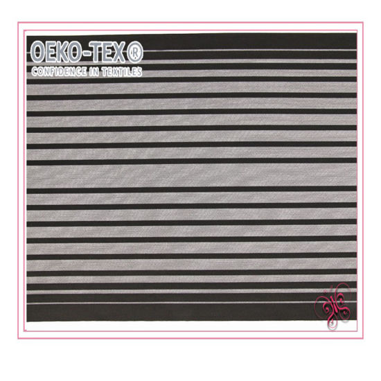 Stripe Mesh Fabric for Intimate with High Quality