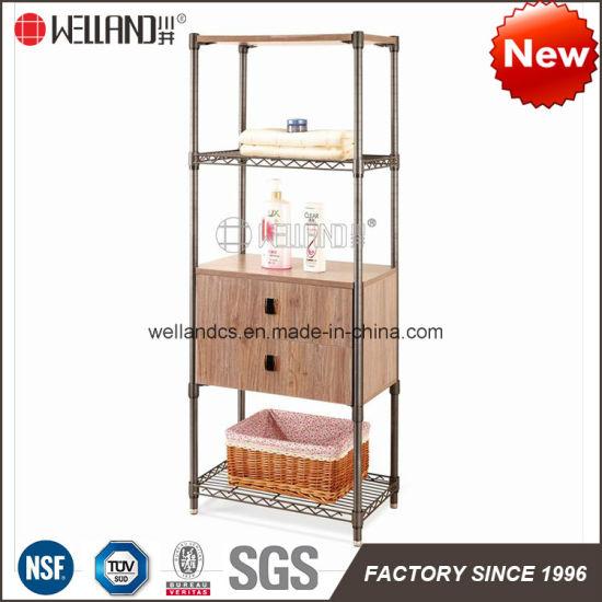 China Manufacutrer DIY Steel Wood Cabinet Knockdown Wash Room Furniture