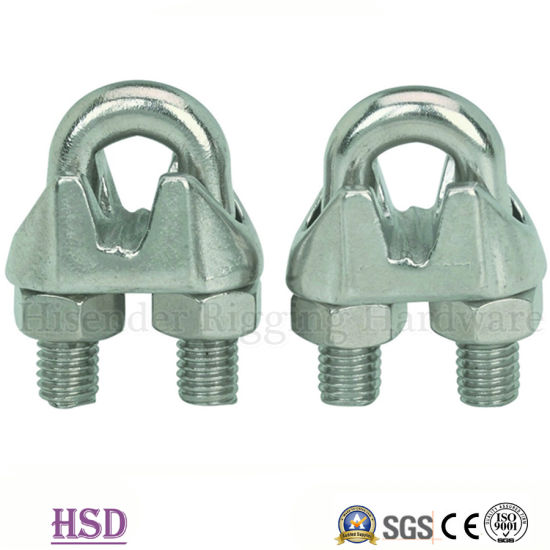 China Fastener Rigging Malleable Type B Cable Clamp for Wire Rope ...