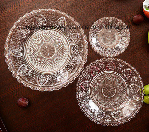 Hot Sell Round Glass Fruit Plate/Glass Plate/Decoration Fruit Dishes pictures & photos
