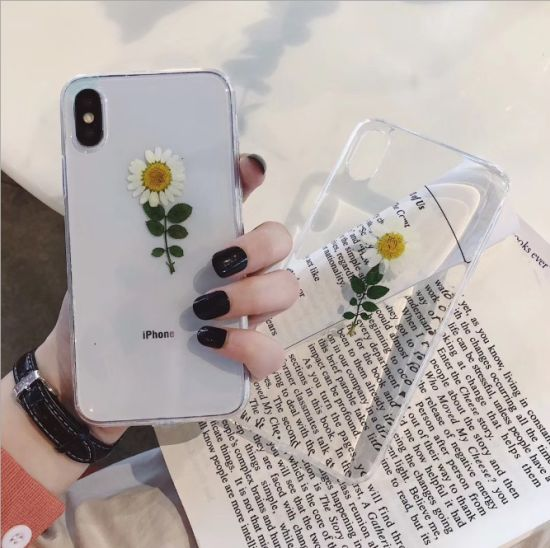China Floral Flower Case Clear Cover