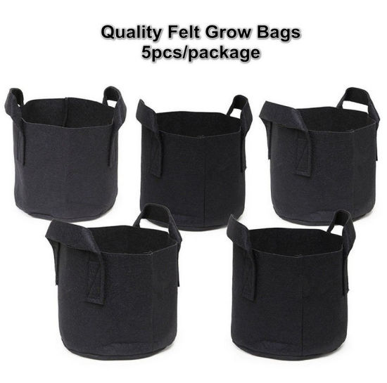 Fabric Planting Garden Grow Bags: Large 10 Gallon Nursery Planter Pots for Indoor/Outdoor Plant Gardens - Planters