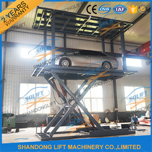 Hydraulic Car Parking Lift Two Cars Home Garage Parking Lift pictures & photos